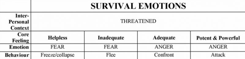 survival emotions